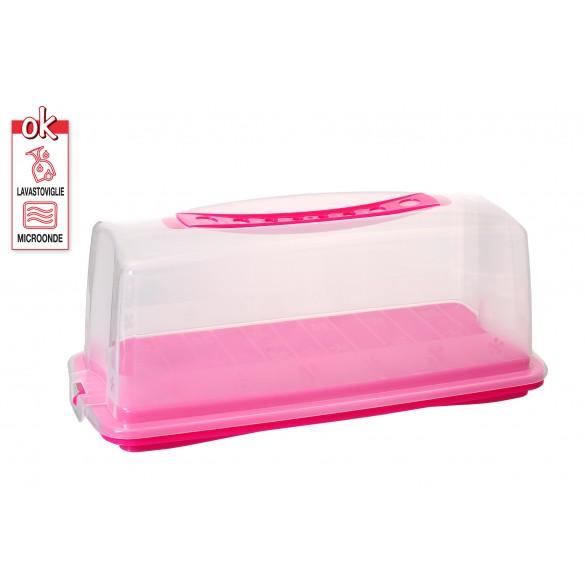 Contenitore porta torta  porta dolci plumcake rosa