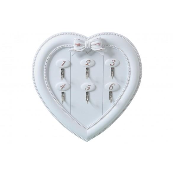 Portachiavi appendichiavi a forma di cuore