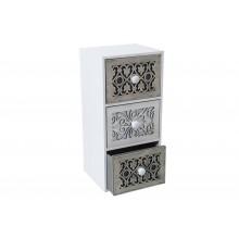 Mobiletto cassettiera portatutto 3 cassetti bianco