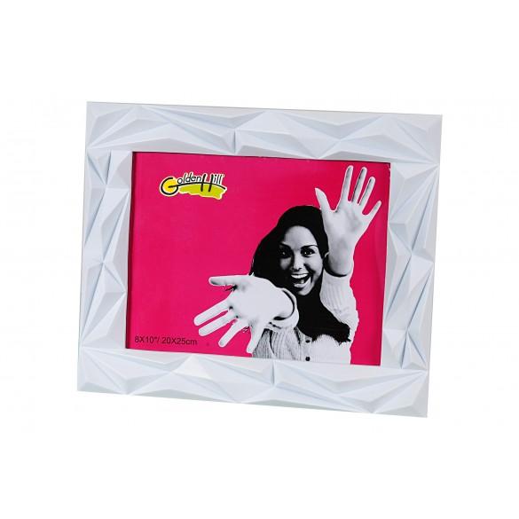 Cornice portafoto moderna in plastica bianca