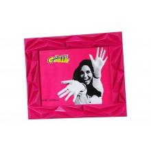 Cornice portafoto moderna in plastica rosa