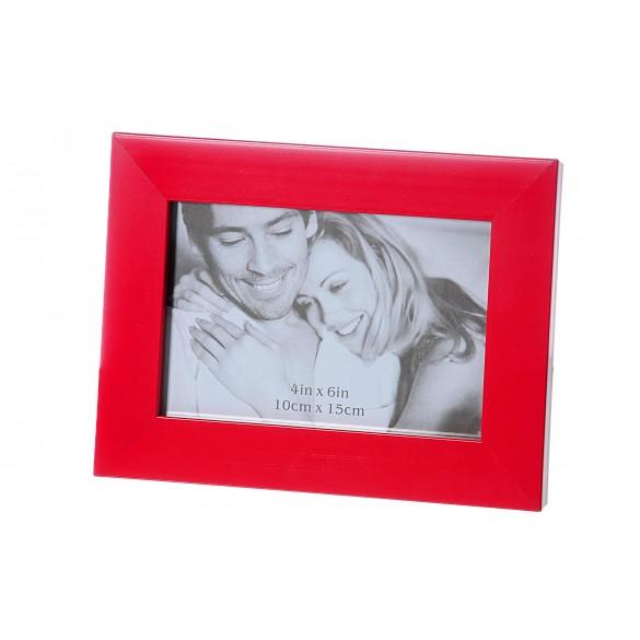 Cornice portafoto moderna in MDF 10 cm x 15 cm rossa