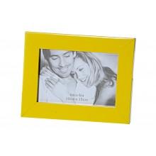 Cornice portafoto moderna in MDF 10 cm x 15 cm gialla