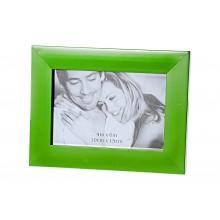 Cornice portafoto moderna in MDF 10 cm x 15 cm verde
