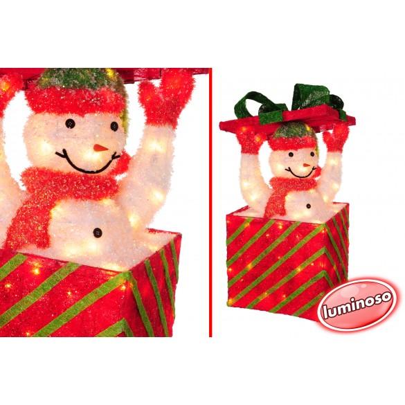 Decorazione Natalizia sorpresa con pupazzo di neve per negozio, casa 40 x 88 x 40 cm