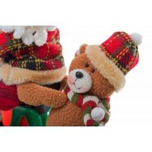 Peluche Babbo Natale su triciclo con suono e movimento dettaglio