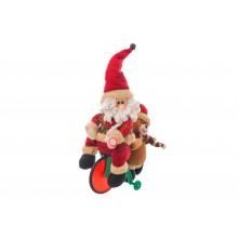 Peluche Babbo Natale su triciclo con suono e movimento