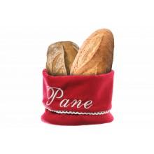 portapane in stoffa in tessuto con pane
