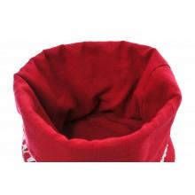 portapane in stoffa in tessuto interno