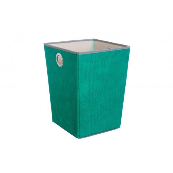Cesto portaoggetti in tessuto con manici verde