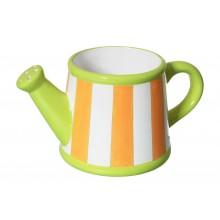 Vaso decorativo a strisce in ceramica