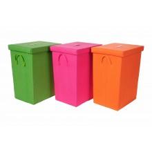 Set 3 cestini colorati portatutto rettangolari