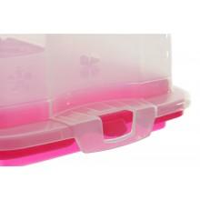 Contenitore porta torta  porta dolci plumcake rosa dettaglio 3