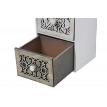 Mobiletto cassettiera portatutto 3 cassetti bianco cassetto scuro aperto
