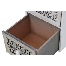 Mobiletto cassettiera portatutto 3 cassetti bianco cassetto scuro dettaglio