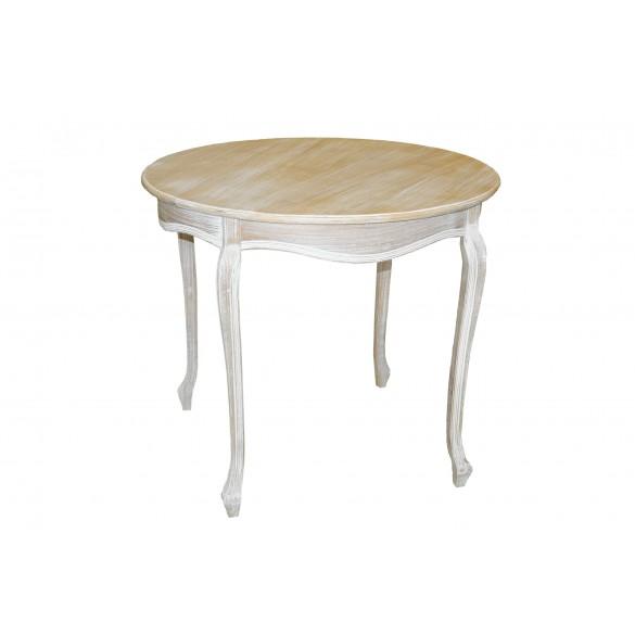 Tavolo tondo bianco decapè 90 x cm 90 cm x 80 cm